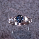 JewelCraft_Blue Saphire and Diamond Ring