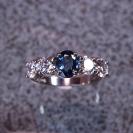 JewelCraft_Blue Saphire and Diamond Ring