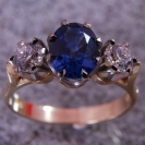 JewelCraft_Blue Saphire Ring