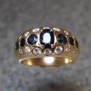 JewelCraft_Gold Blue Saphire and Diamond Ring