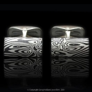 Mokume Gane_cufflinks-SilverShakudo